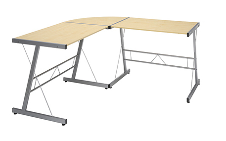 maple l shaped home computer desk