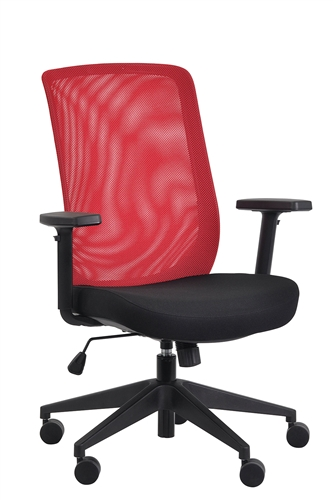 Eurotech Seating Gene Red Mesh Task Chair