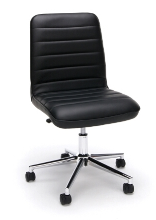 essentials armless ribbed back home office chair