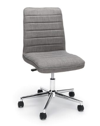 gray essentials ribbed back home office chair