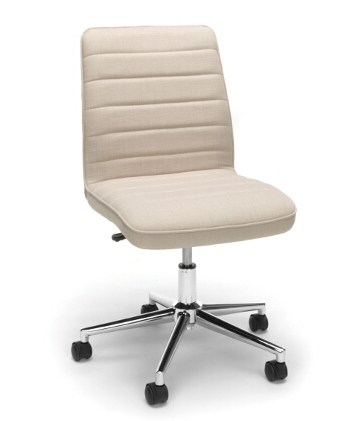 tan essentials ribbed back home office chair