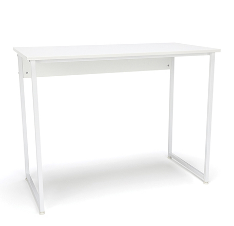 white frame white top essentials small home office desk