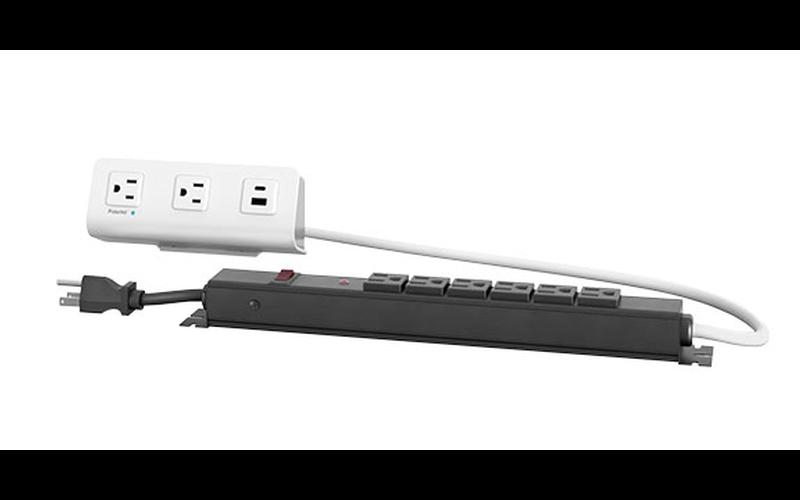 flexcharge4cx white module with black power strip