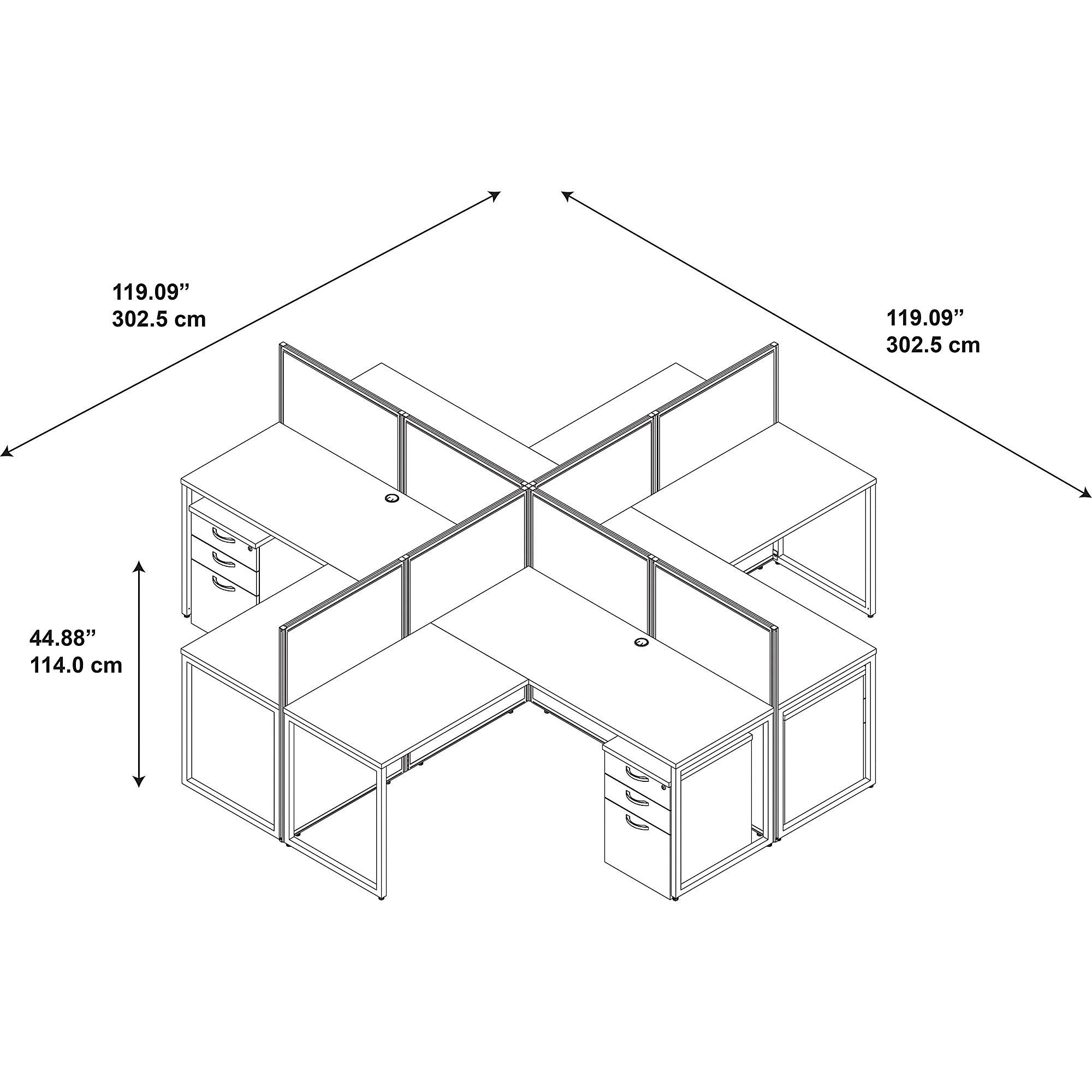 cubicle dimensions
