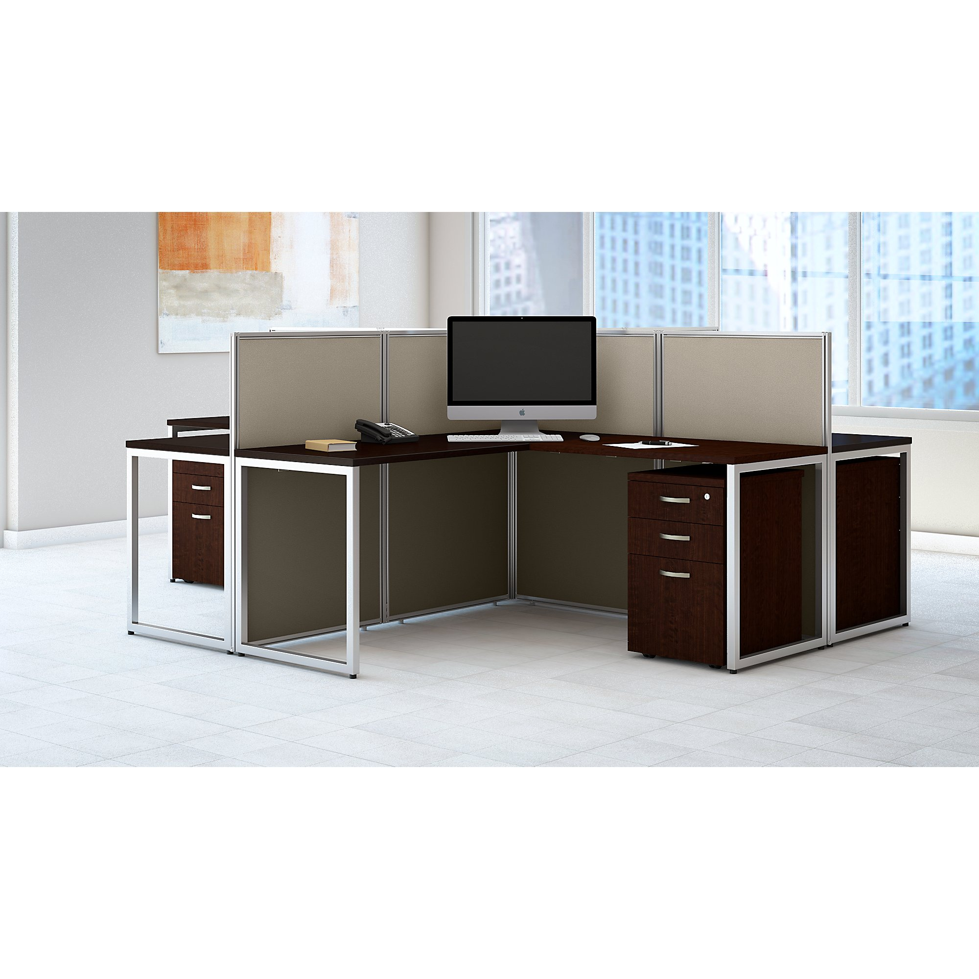 eod760smr easy office 4 person cubicle