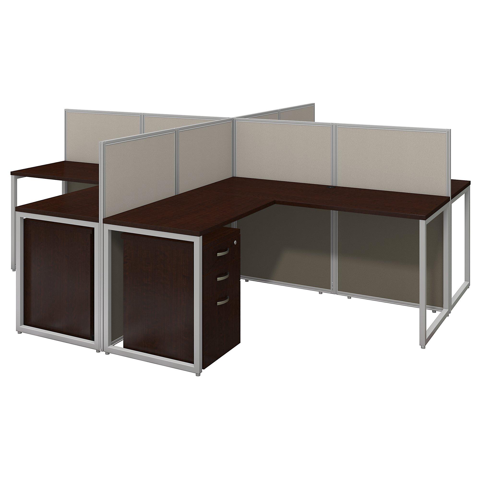 4 person modular cubicle workstation