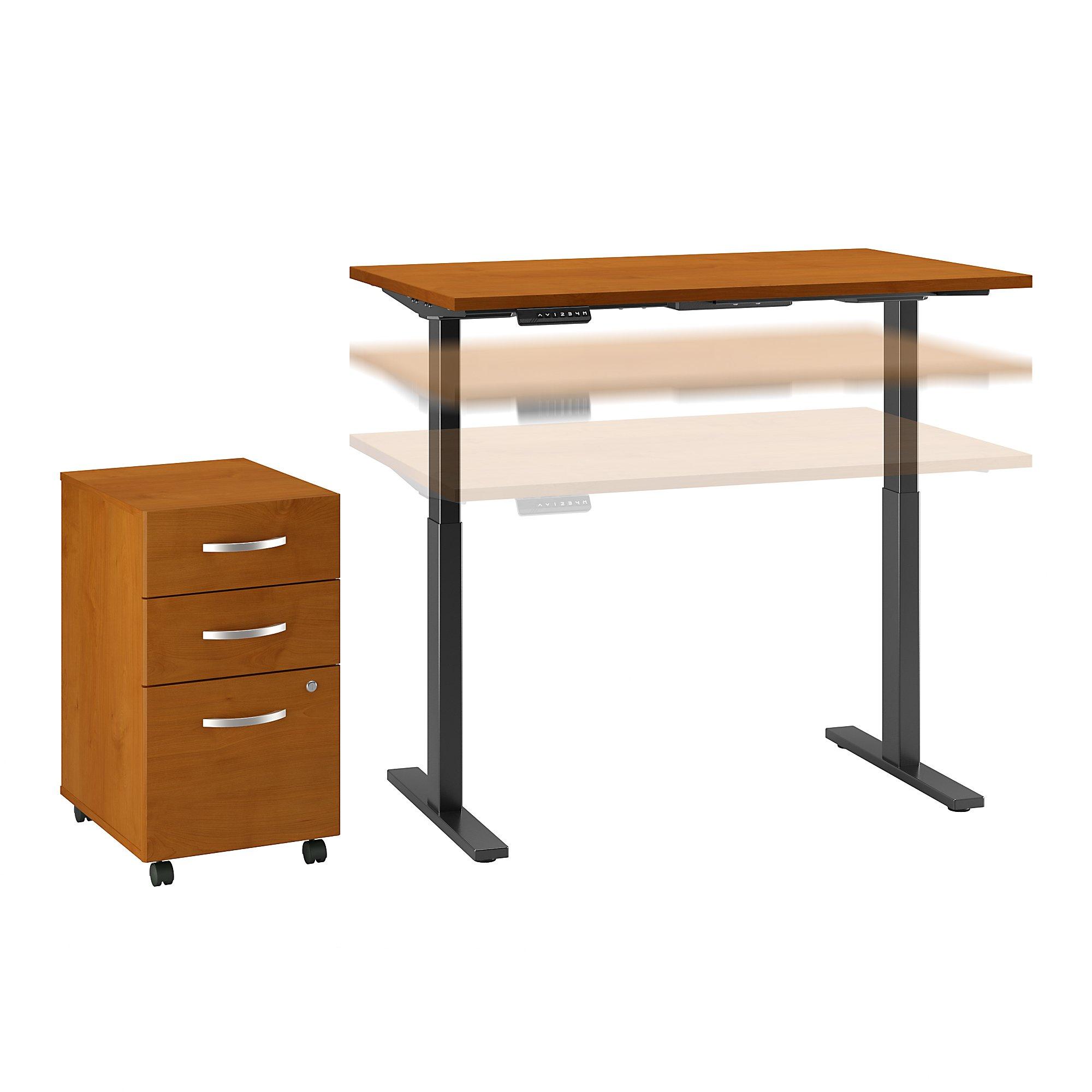 ergonomic desk with file