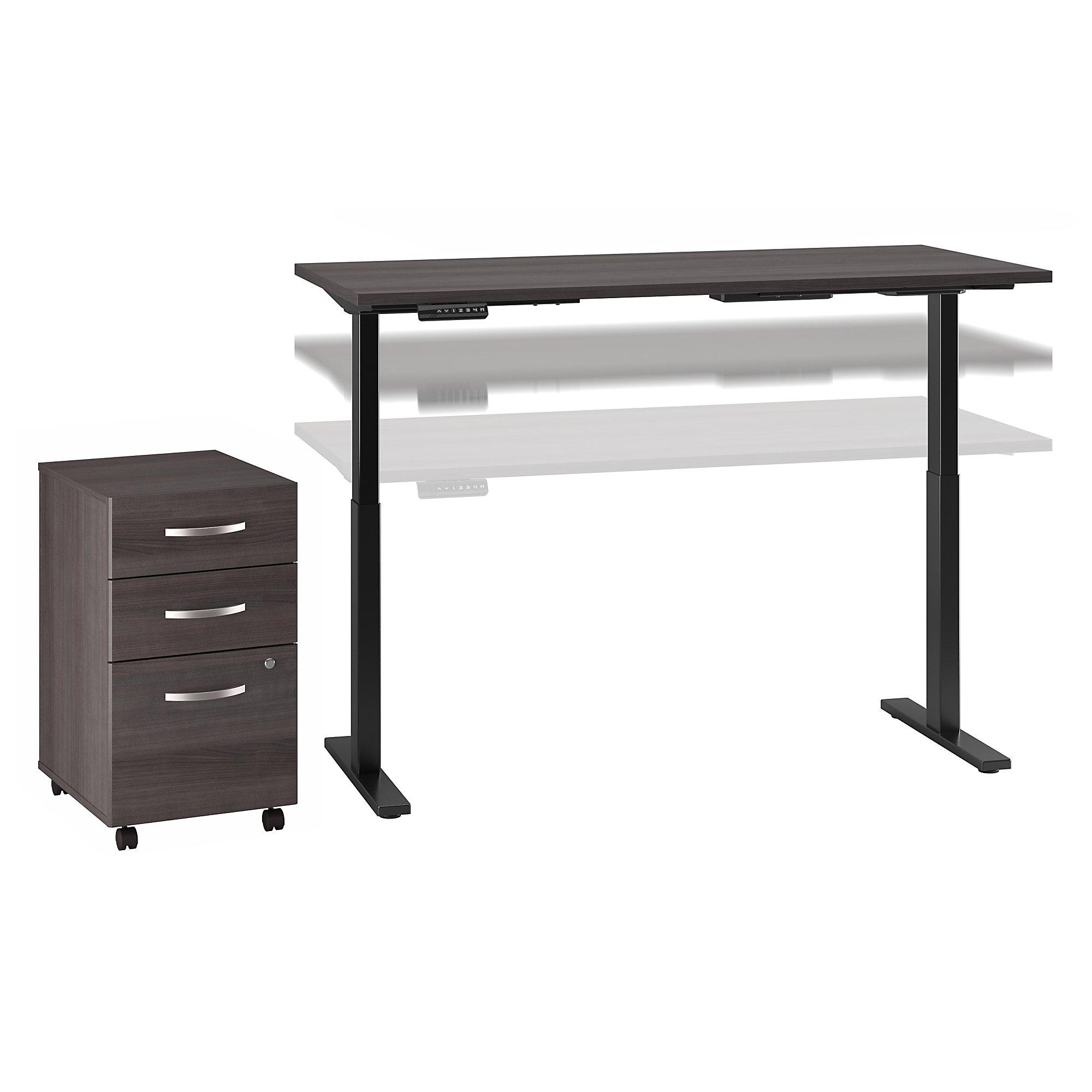 ergonomic desk and file cabinet set