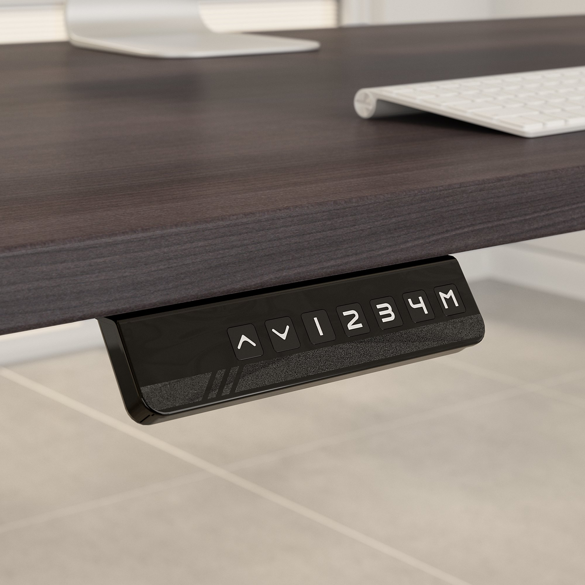 height adjustable desk controls