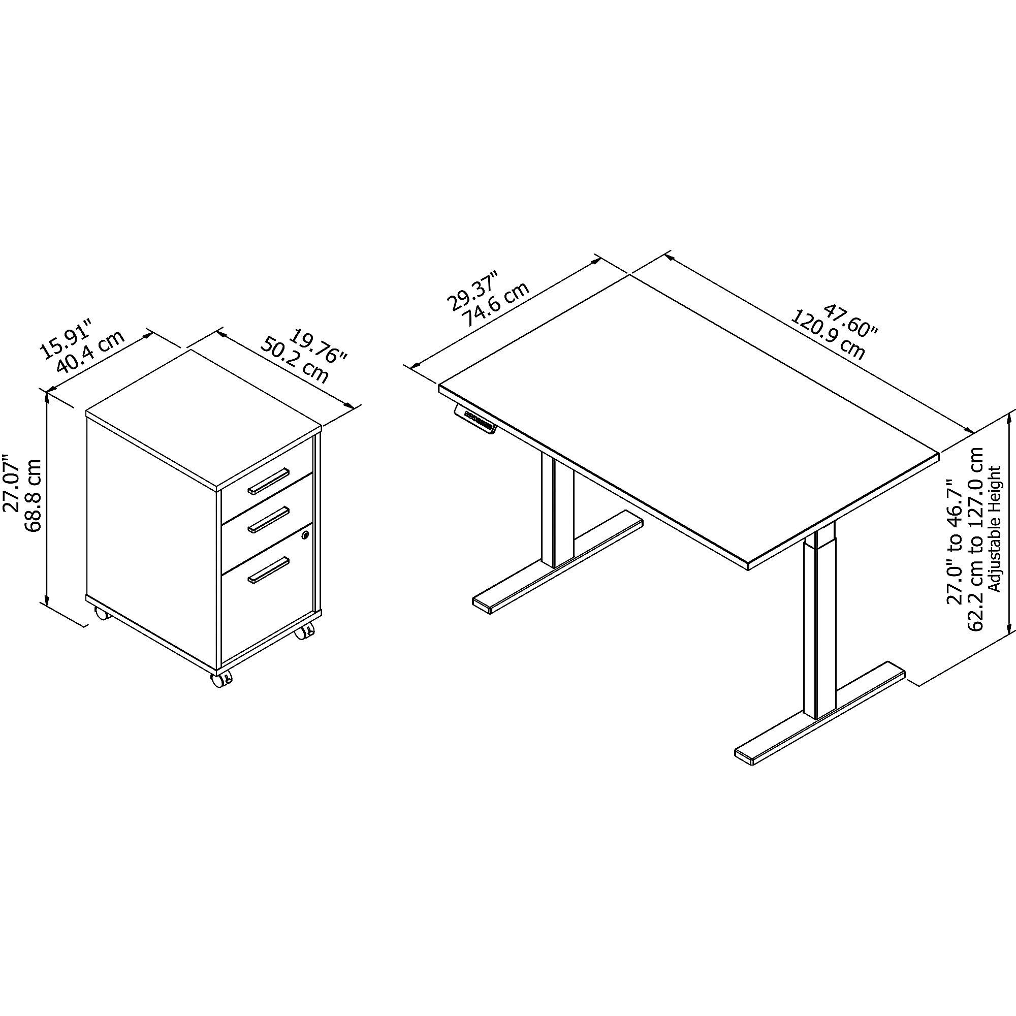 ergonomic desk dimensions