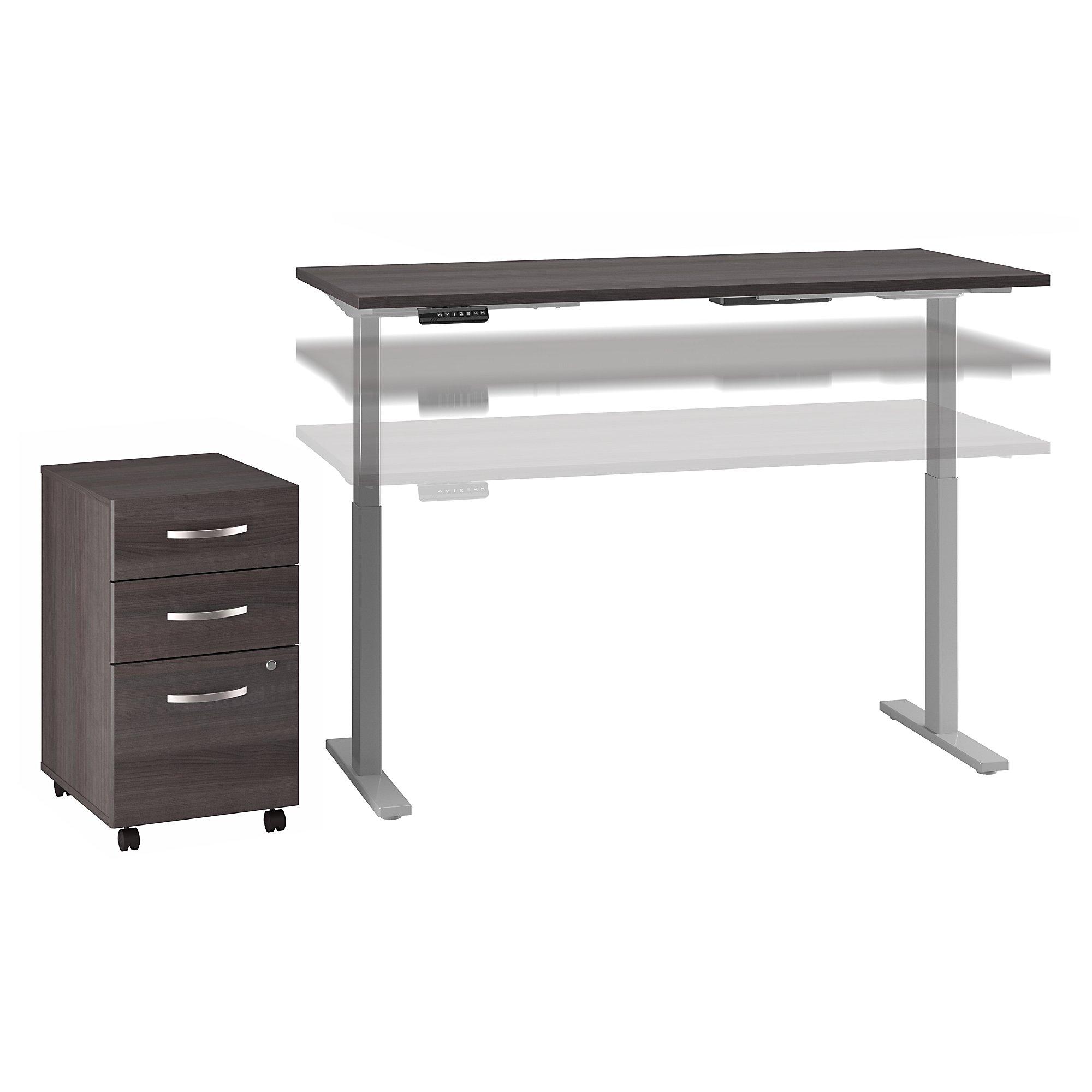 ergonomic desk with mobile file