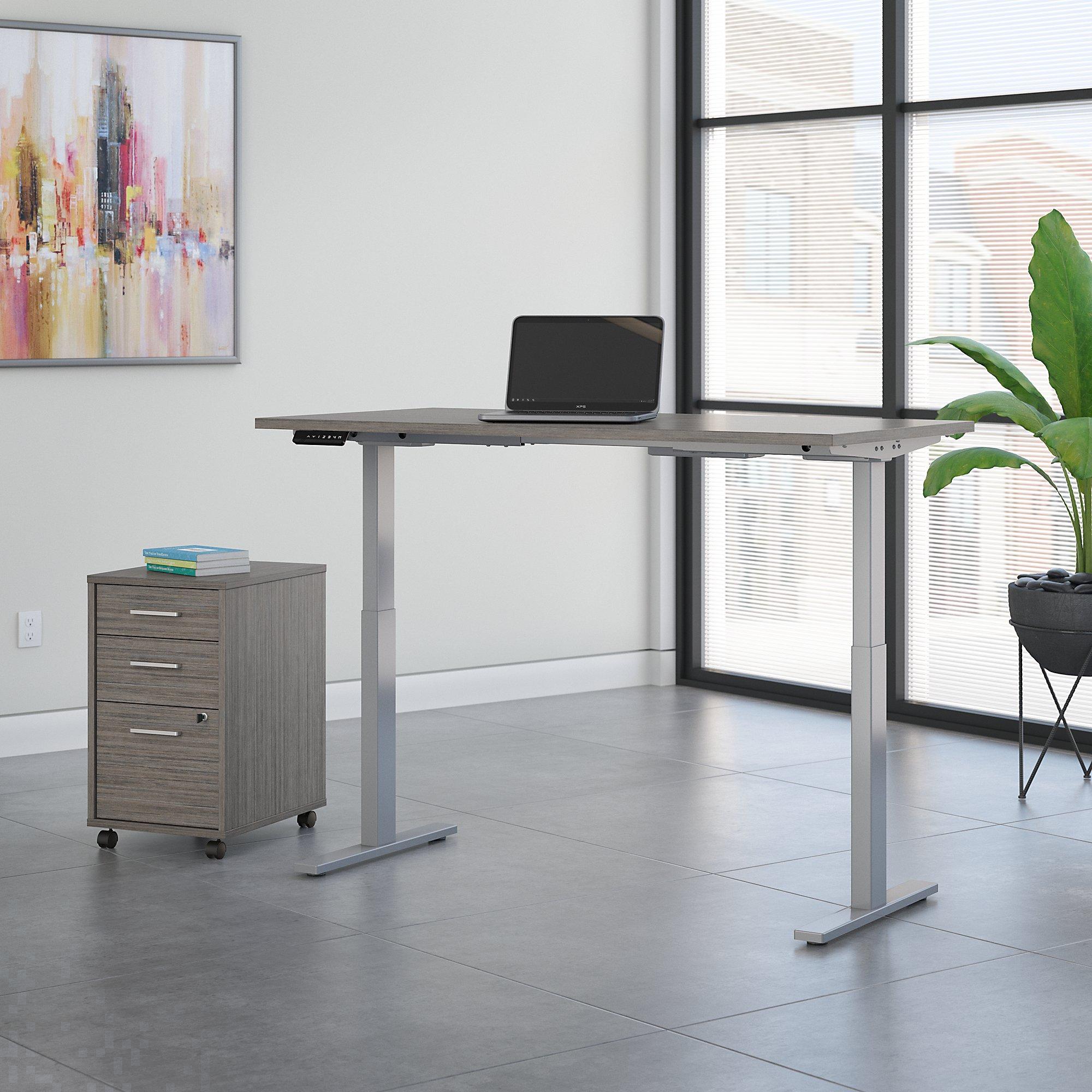 cocoa 72x30 ergonomic desk with file