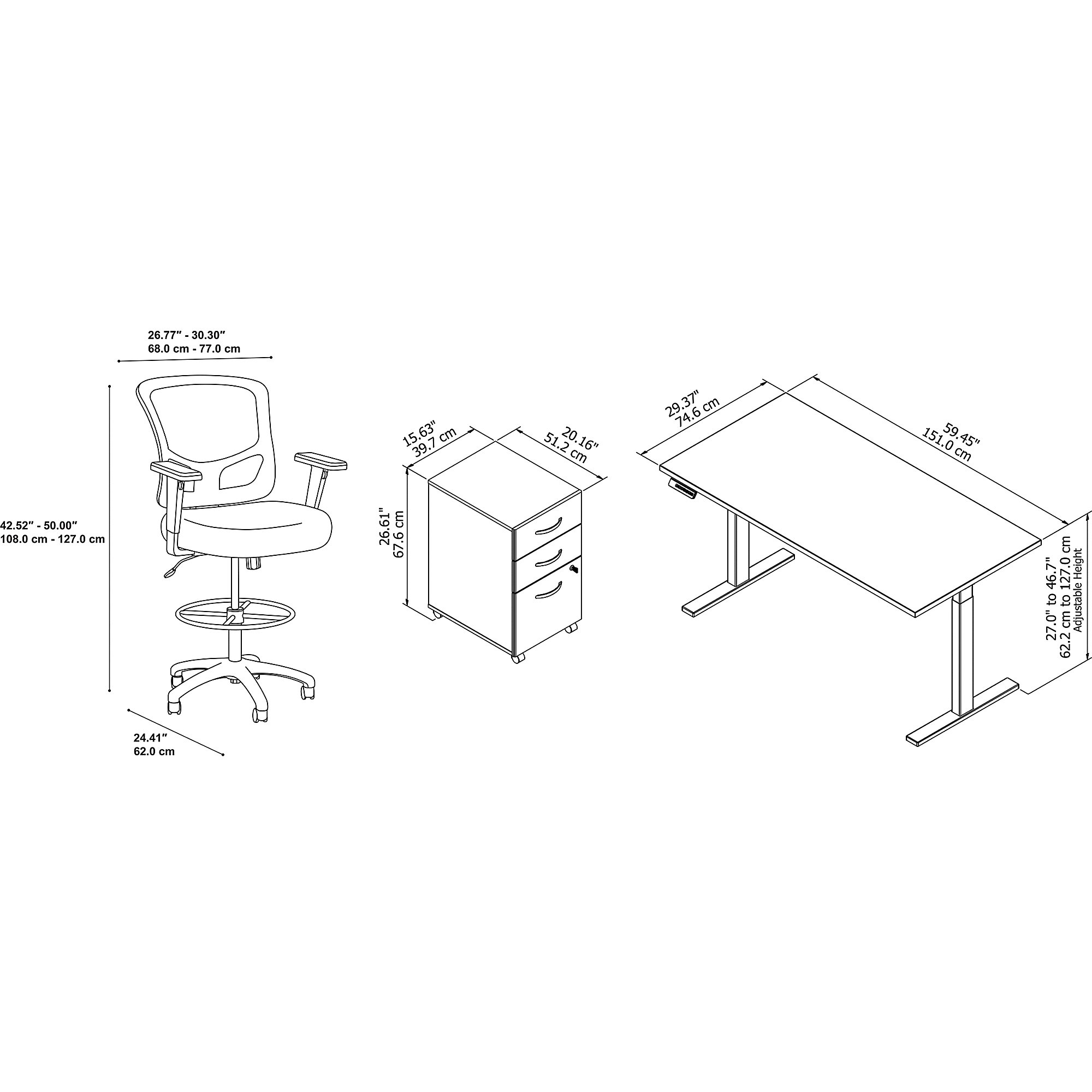 component dimensions