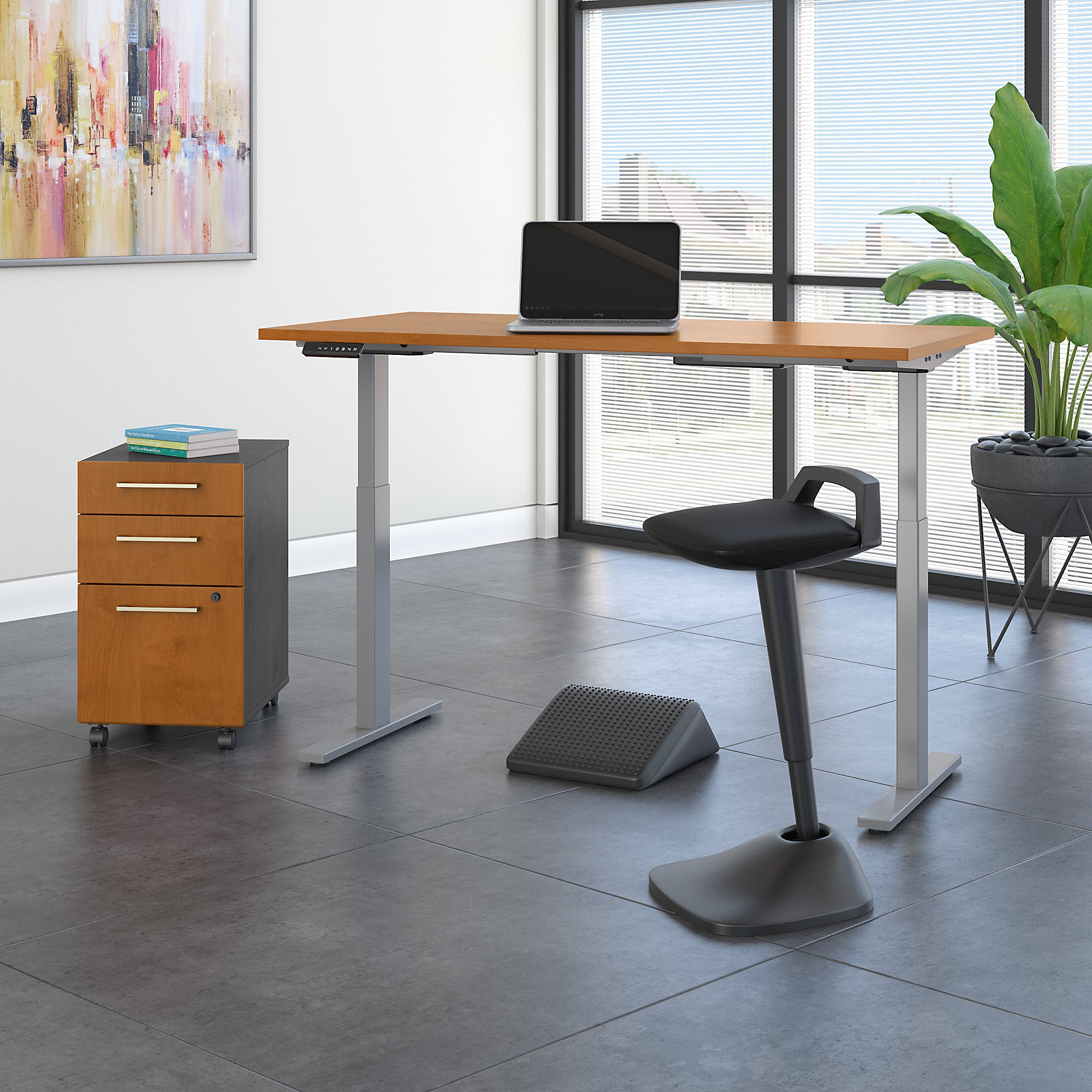 natural cherry ergonomic furniture set