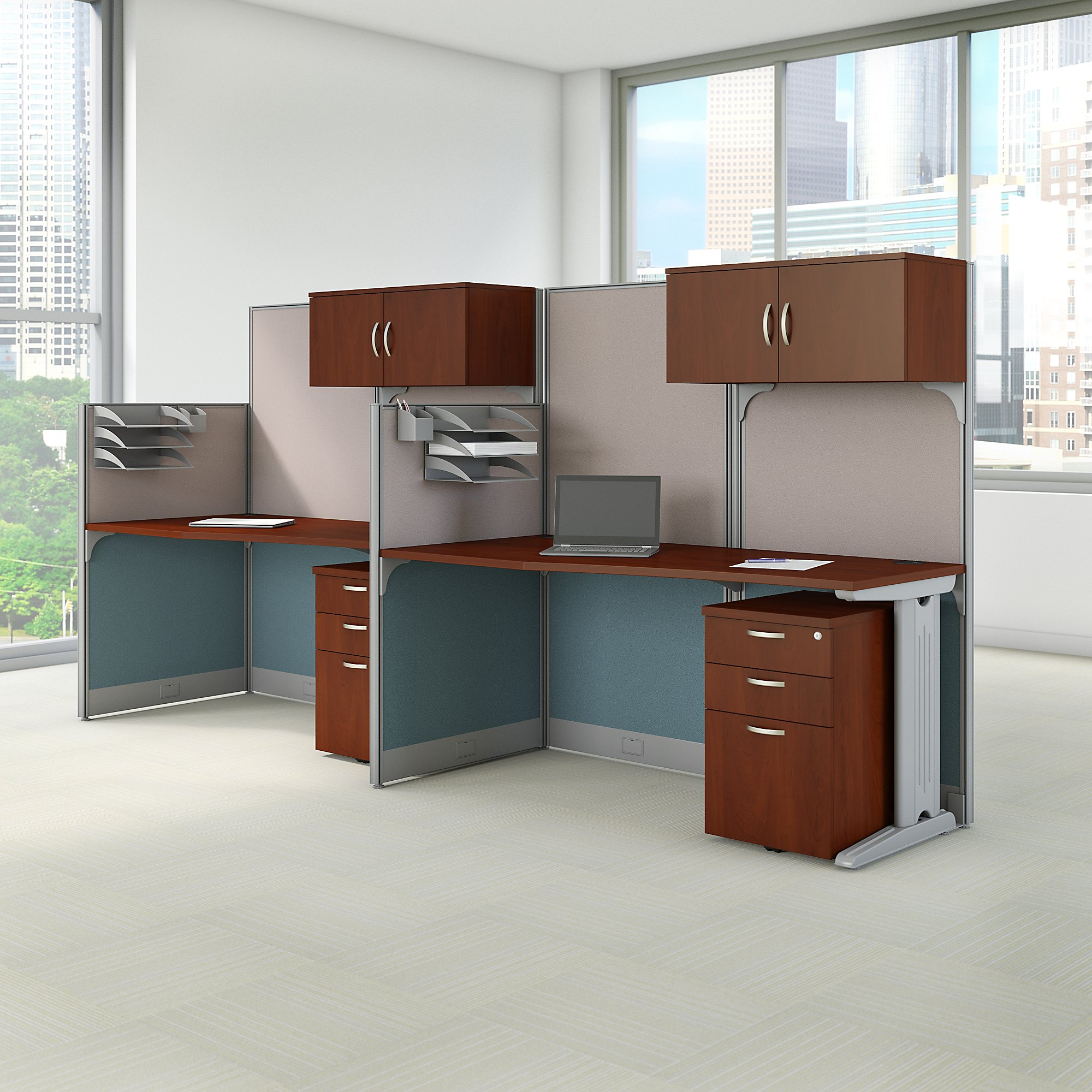 hansen cherry office in an hour 2 person cubicle