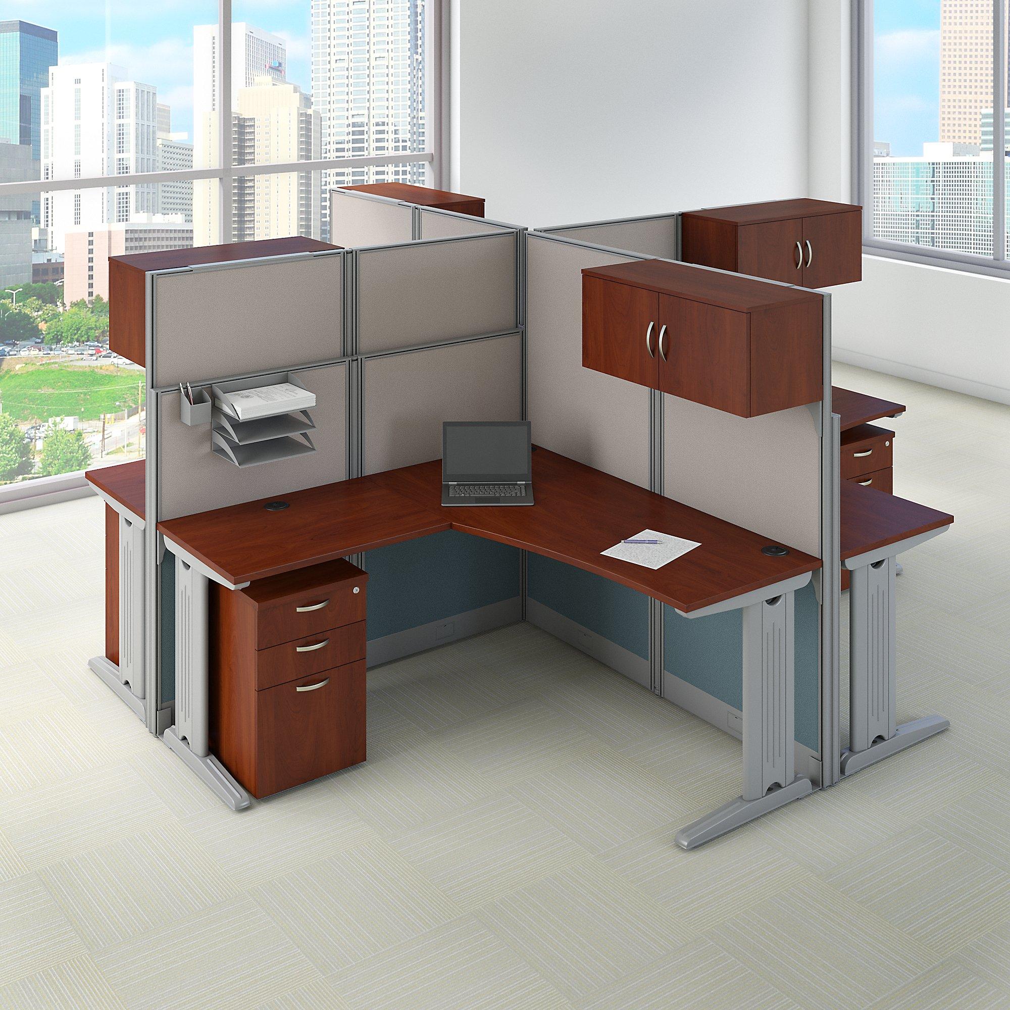 oiah007 4 person hansen cherry cubicle