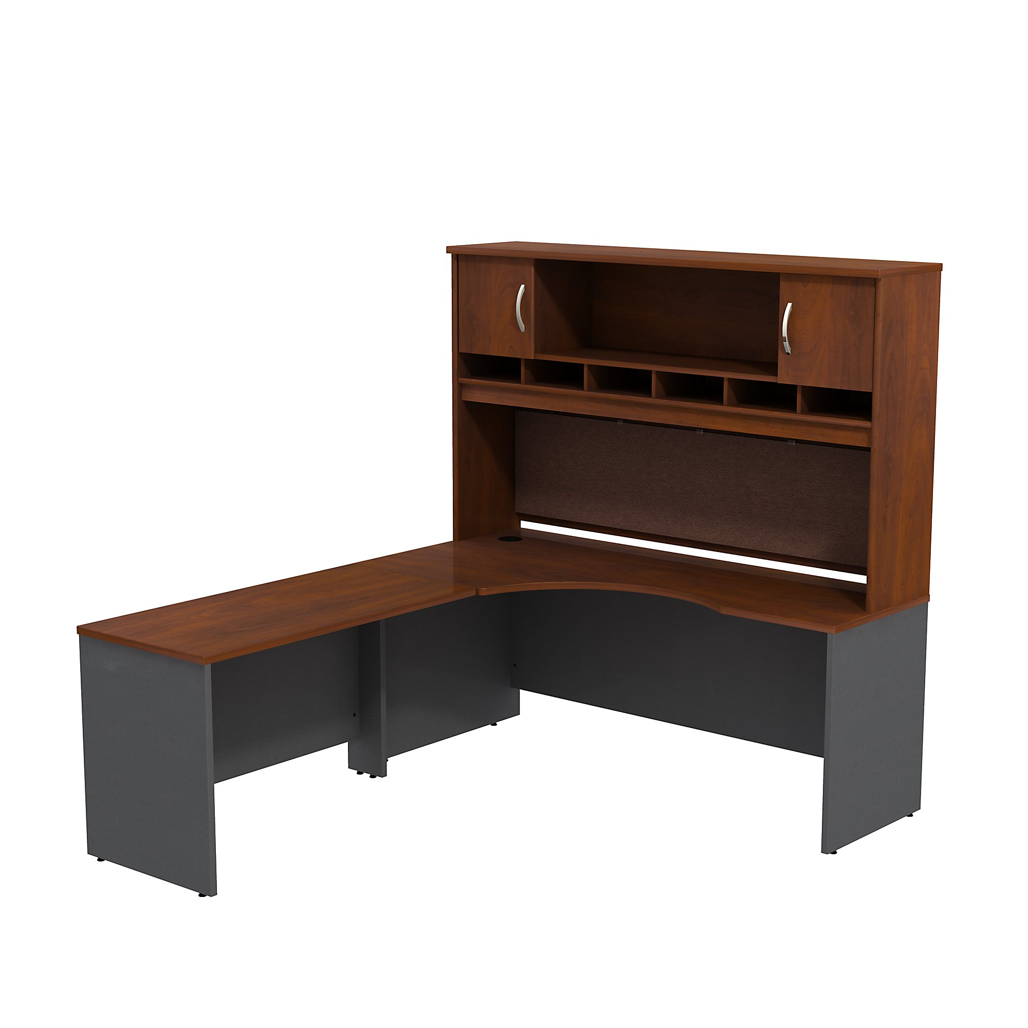 Picture of: Bush Business Furniture Series C Left Handed Corner L Shaped Desk With Hutch