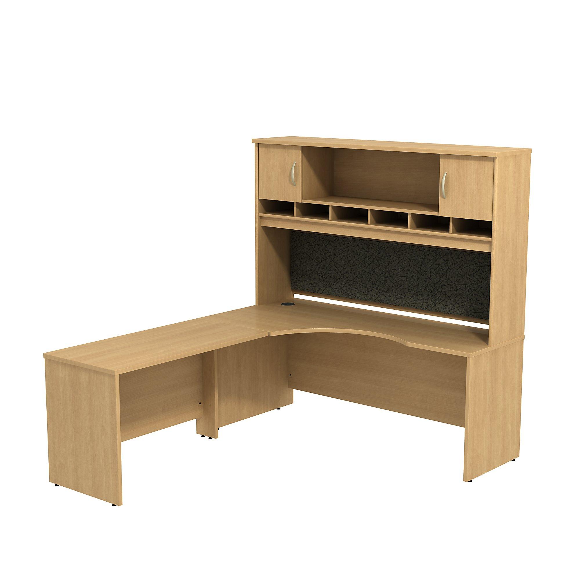 Bush Business Furniture Series C Left Handed Corner L Shaped Desk With Hutch