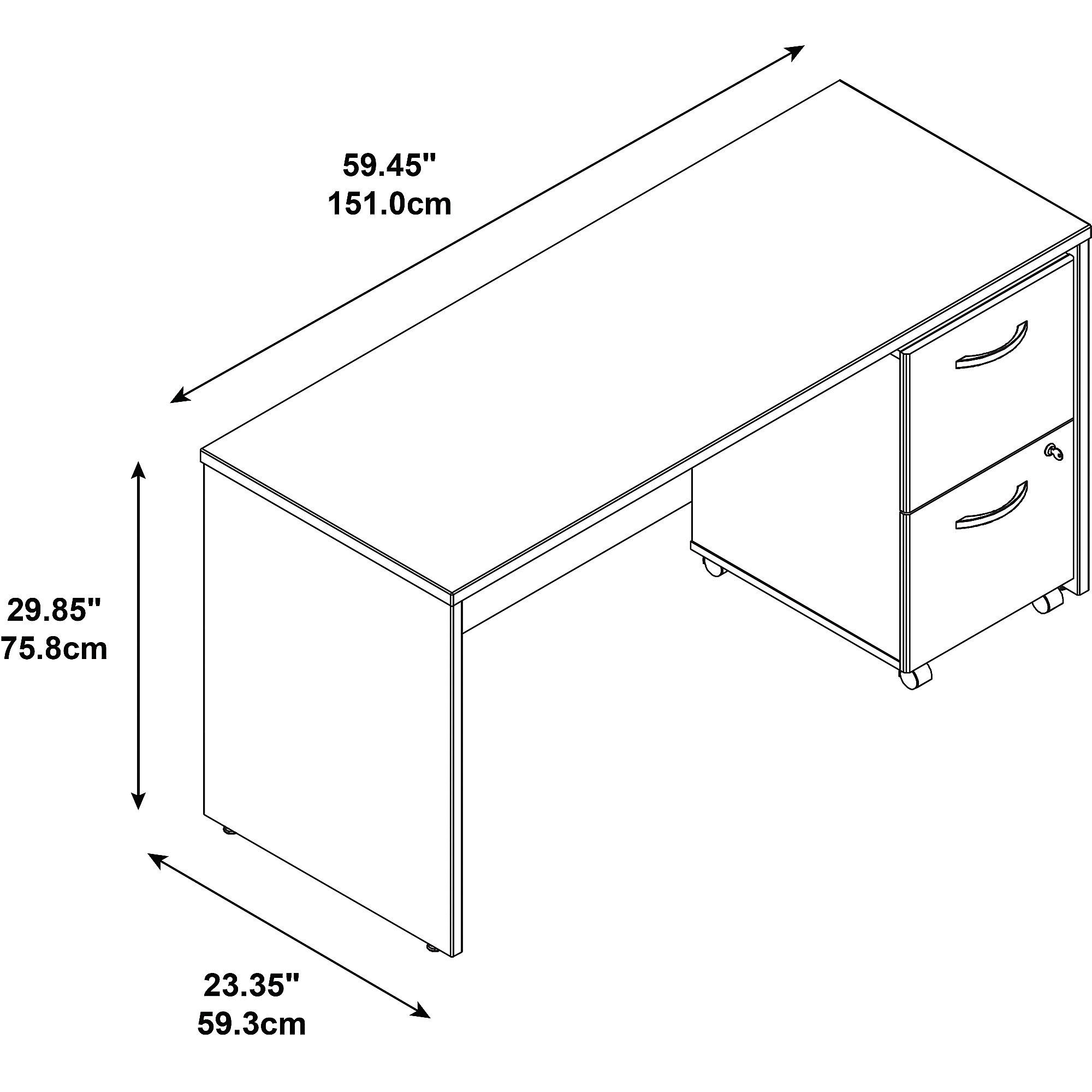 credenza desk dimensions