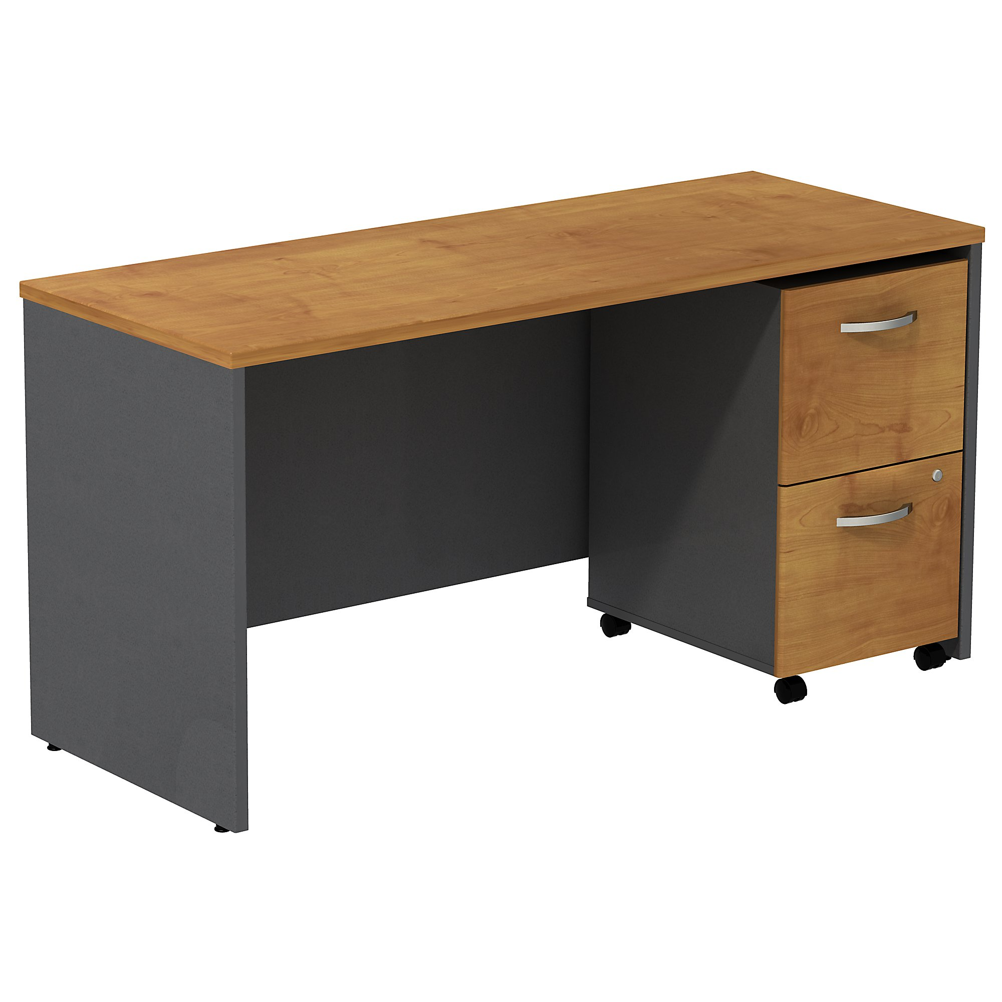 "natural cherry series c 60"" credenza desk"