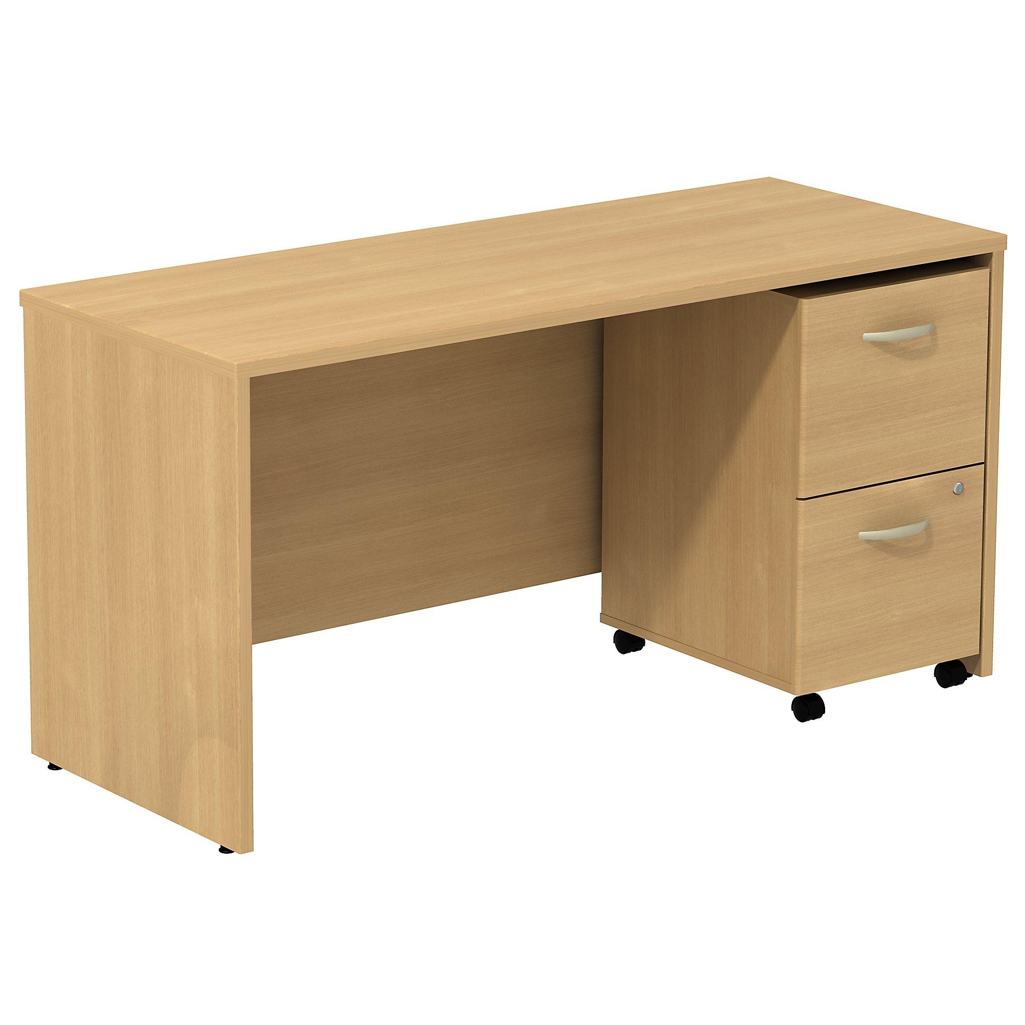 "light oak series c 60"" credenza desk"