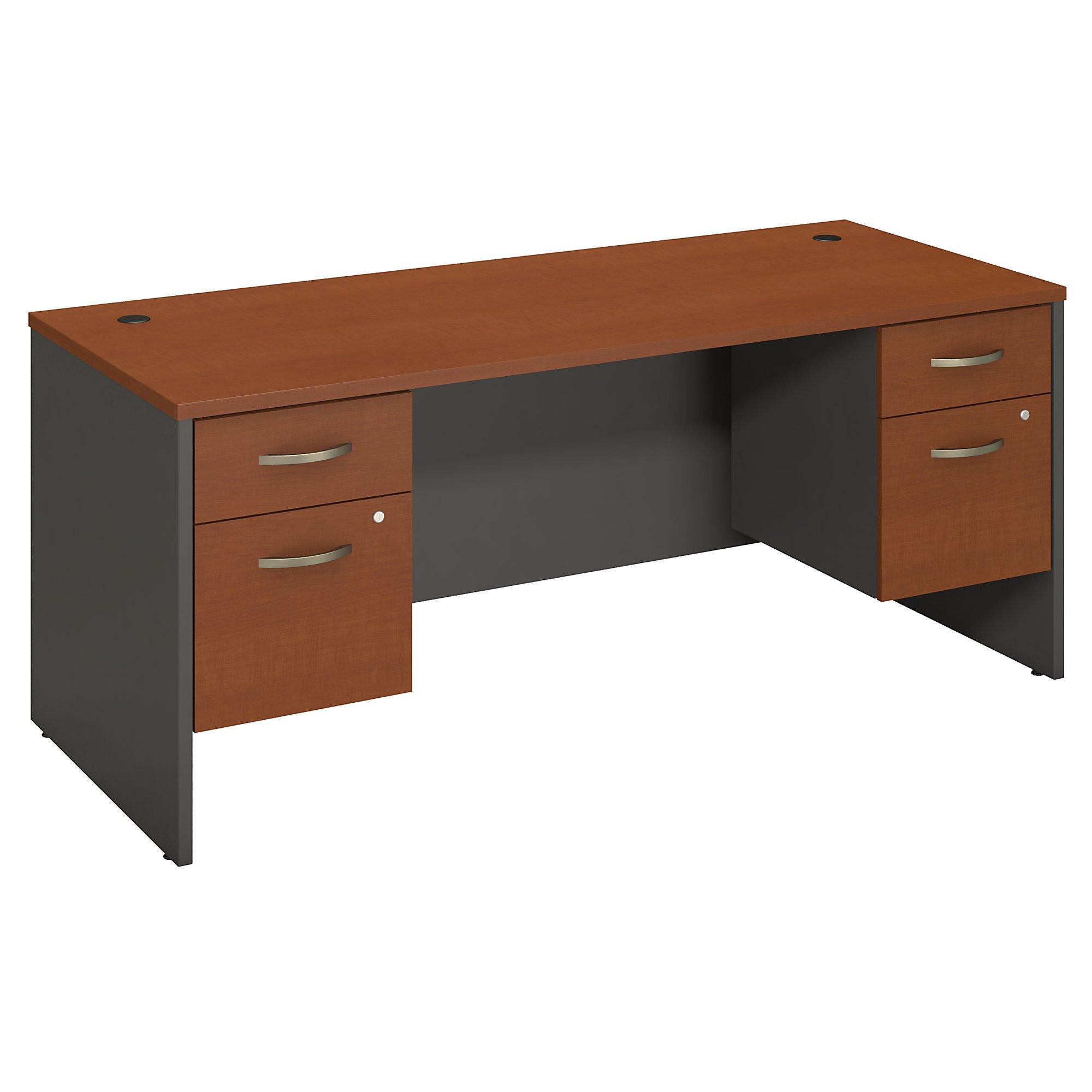auburn maple series c 72w desk with pedestals