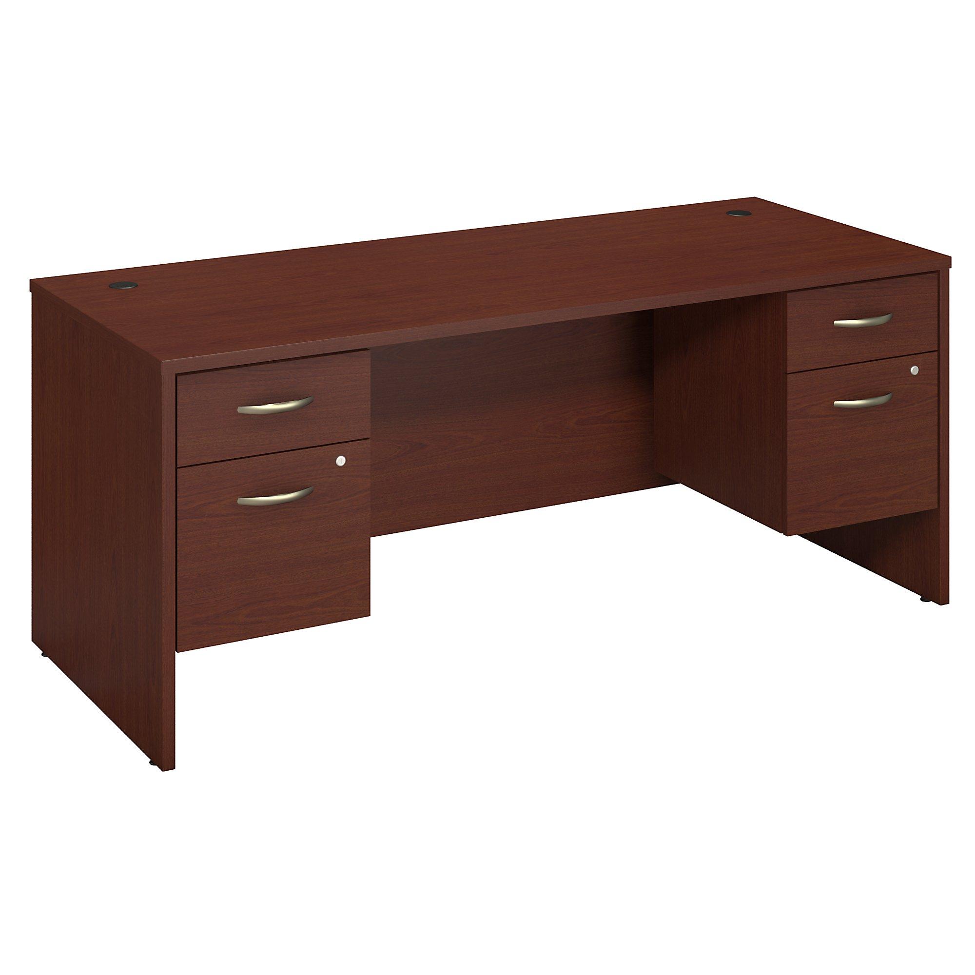 mahogany series c 72w desk with pedestals