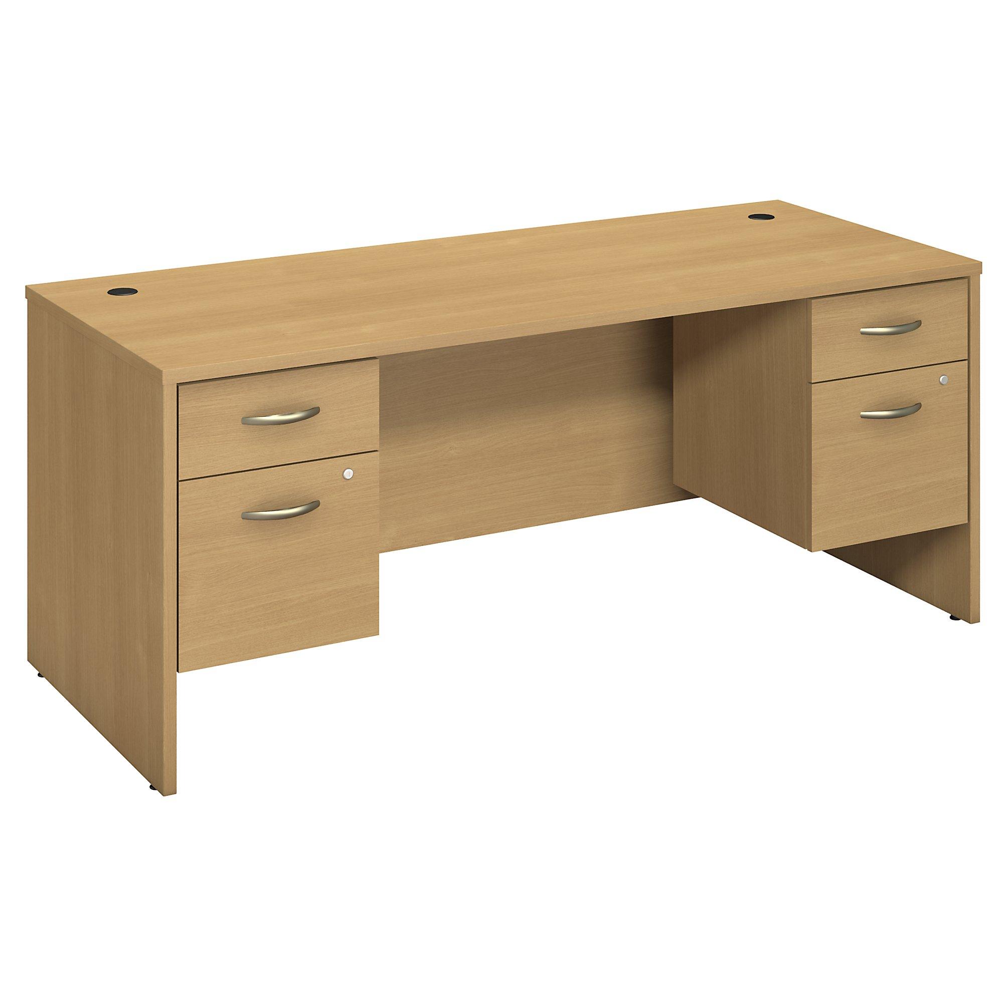 light oak series c 72w desk with pedestals