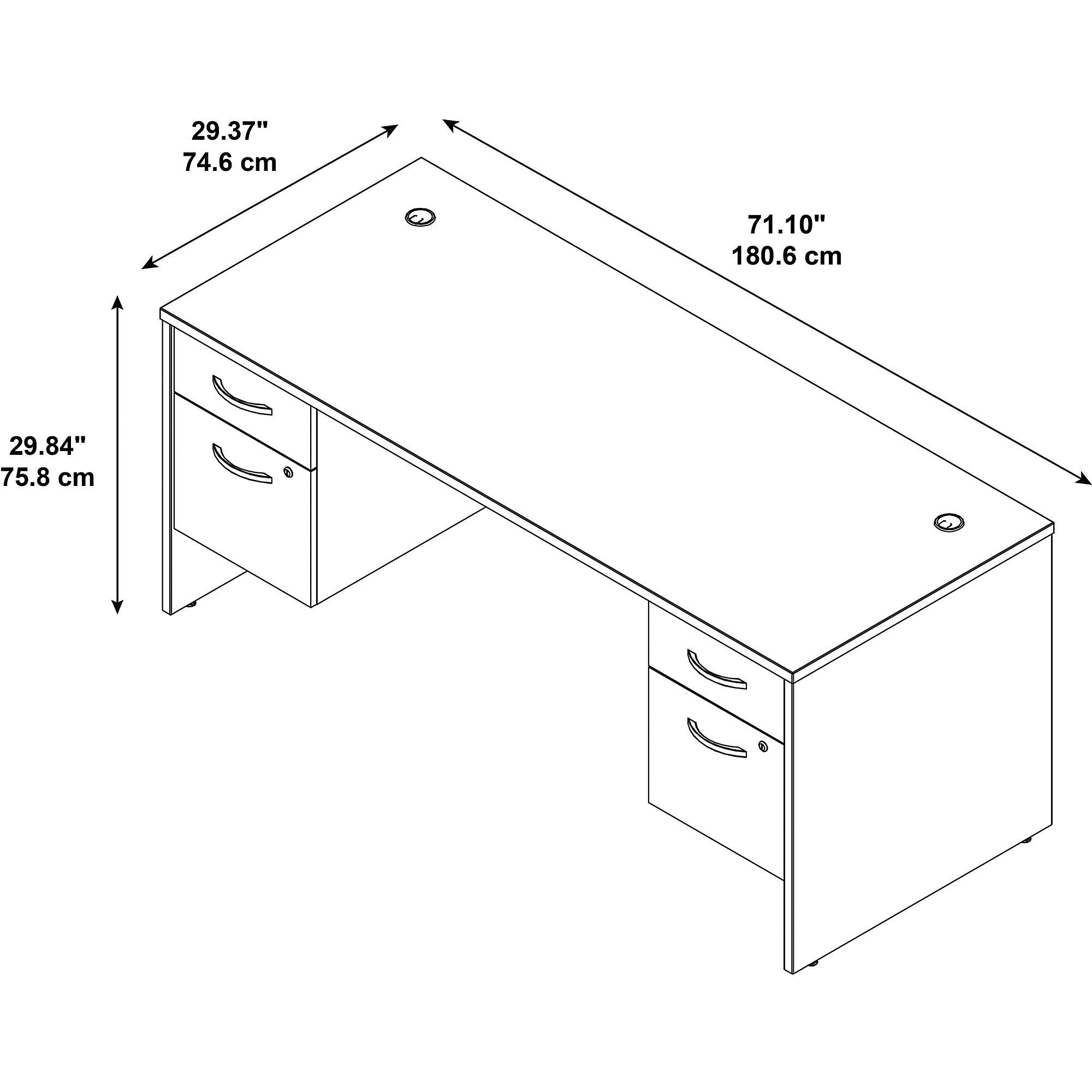 series c 72w desk dimensions