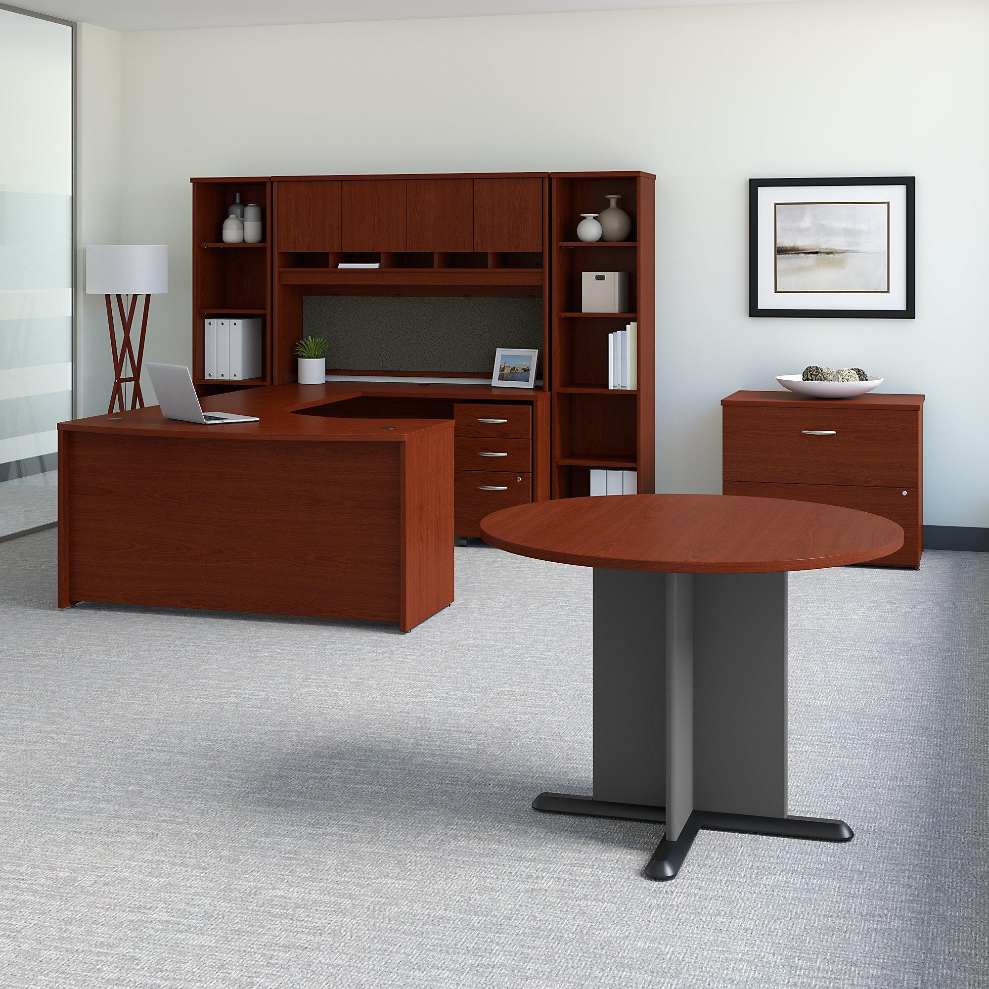 src098 mahogany desk set