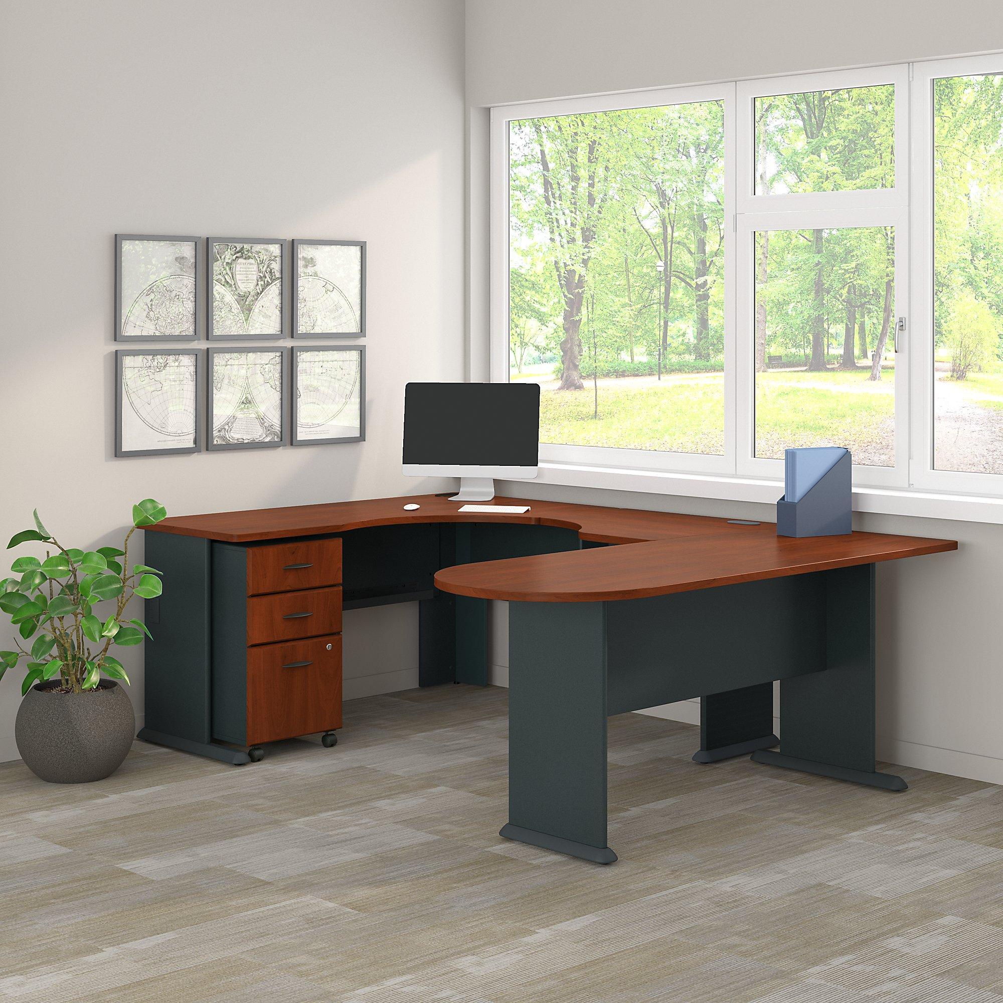 hansen cherry series a u shaped corner desk