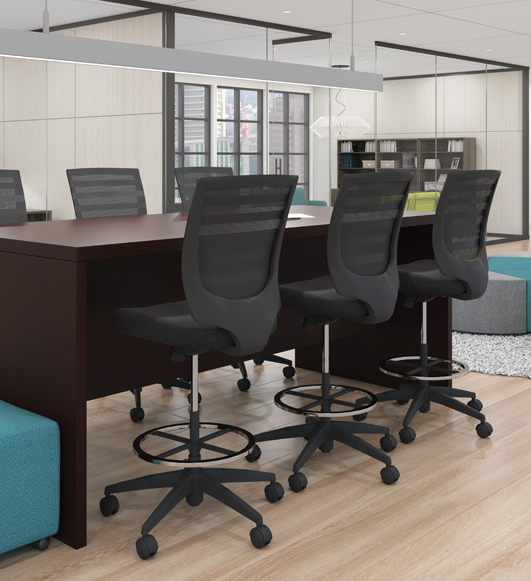 superior laminate standing conference table