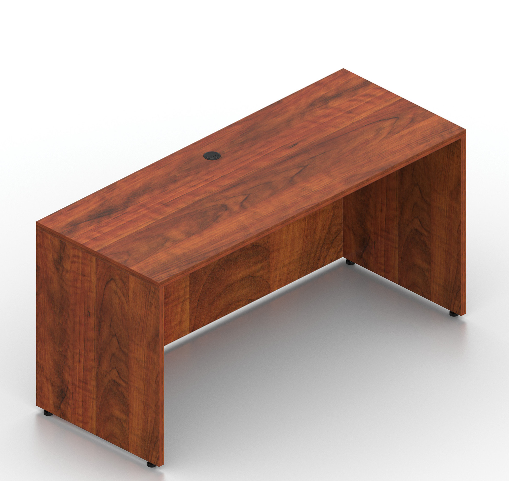 "dark cherry 60"" x 24"" otg credenza desk shell"