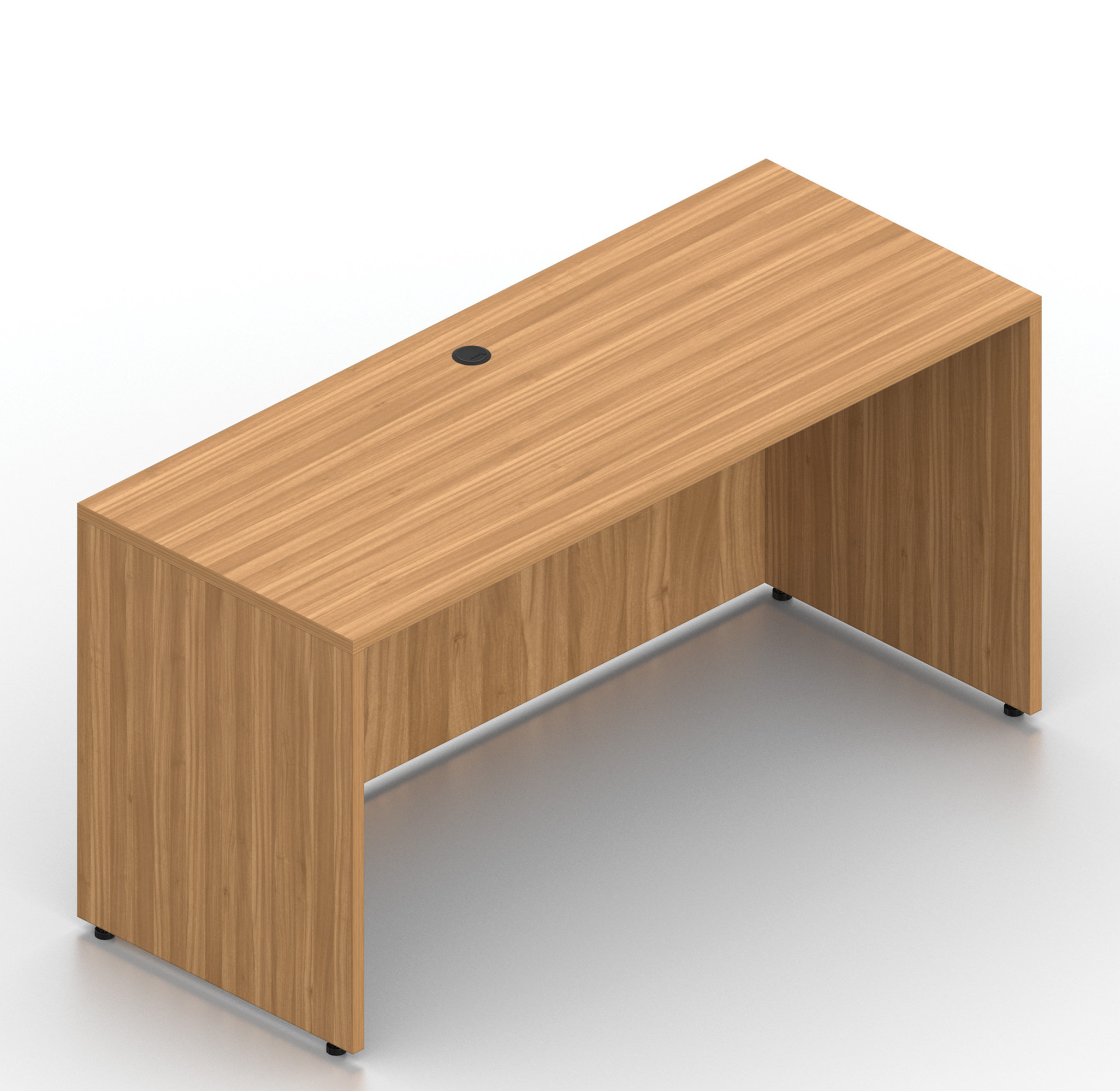 """walnut 60"""" x 24"""" otg credenza desk shell"""