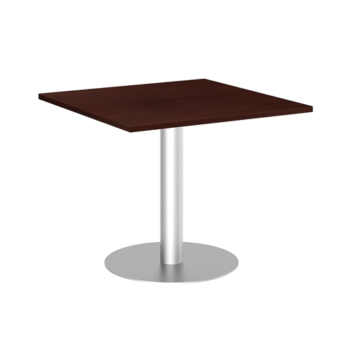 "Bush 36"" Square Table with Metal Disc Base"