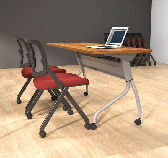offices to go flip top training room table