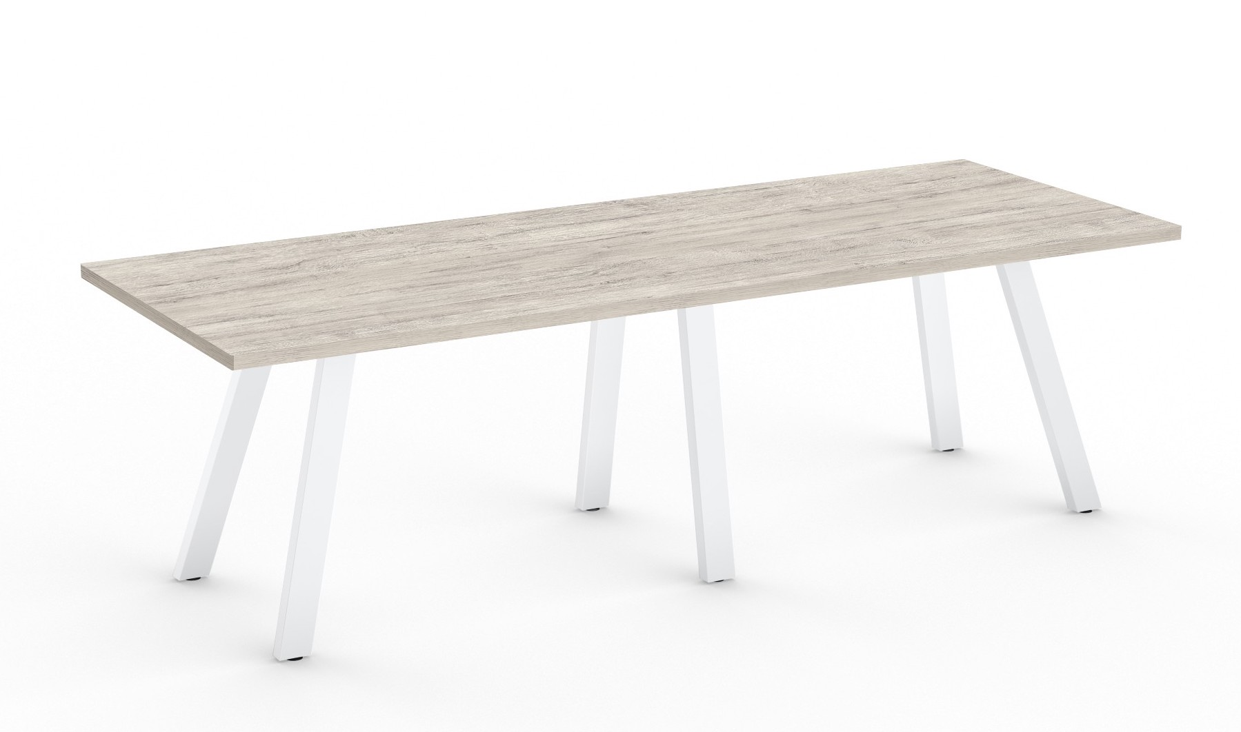 white driftwood aim xl collection conference room table