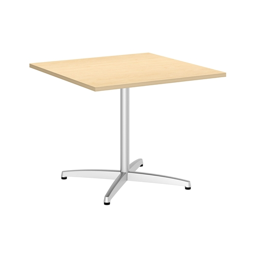 "Bush 36"" Square Table with Metal X Base"