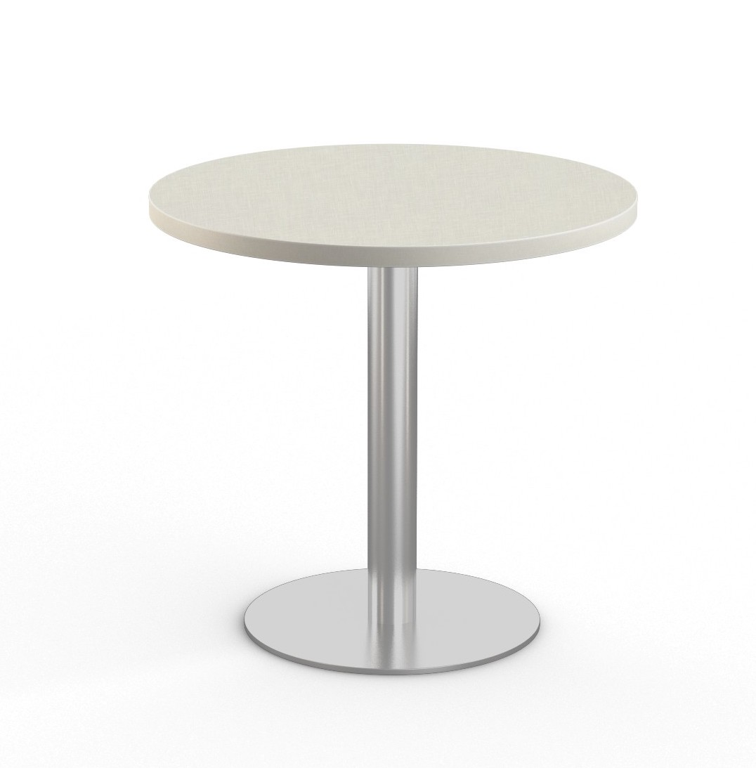 """canvas 36"""" bistro table with stainless steel base"""