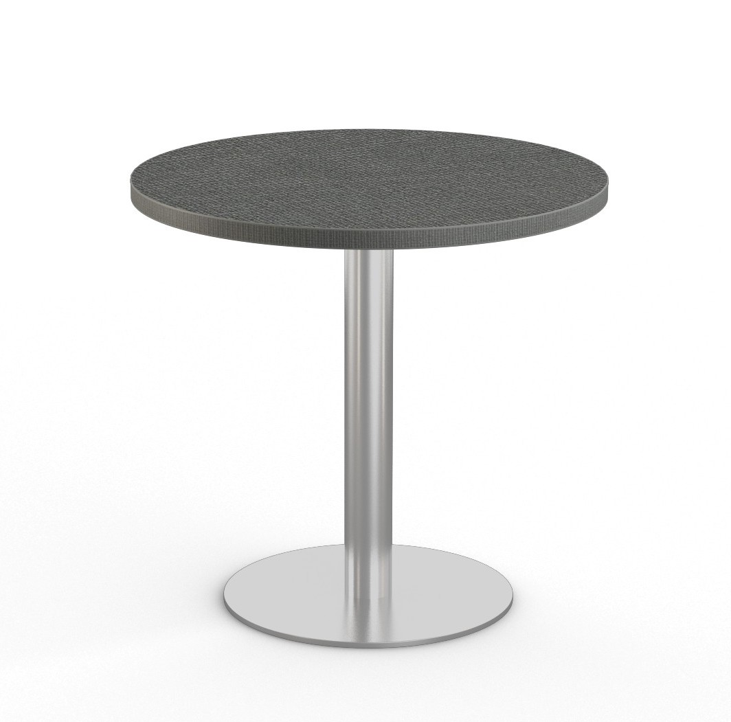 """chino laminate 36"""" bistro table with stainless steel base"""
