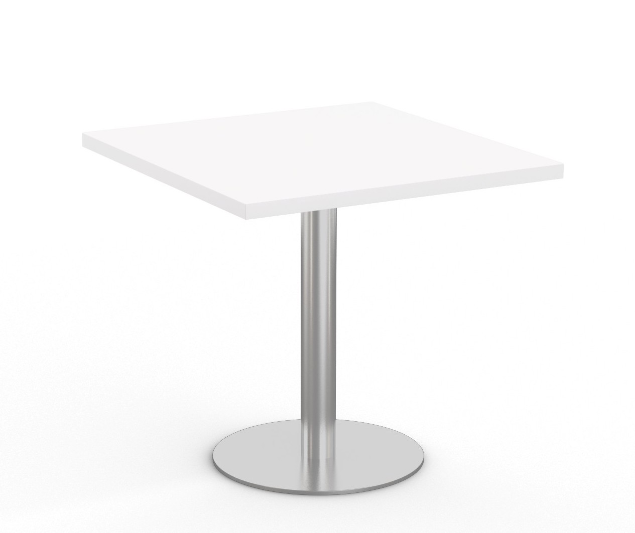"""white  36"""" square bistro table by special-t"""
