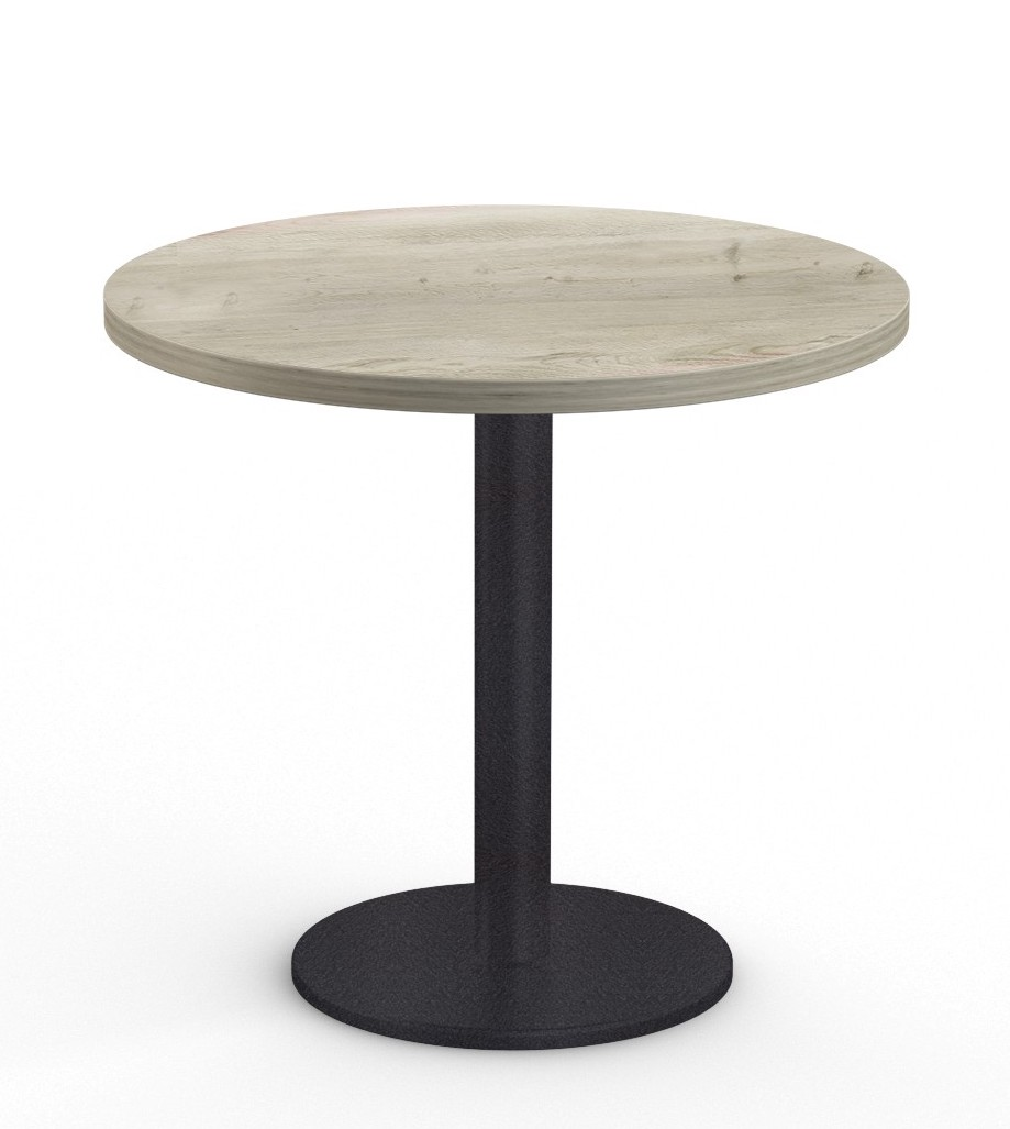 """cantina 36"""" cafe table in aged driftwood"""