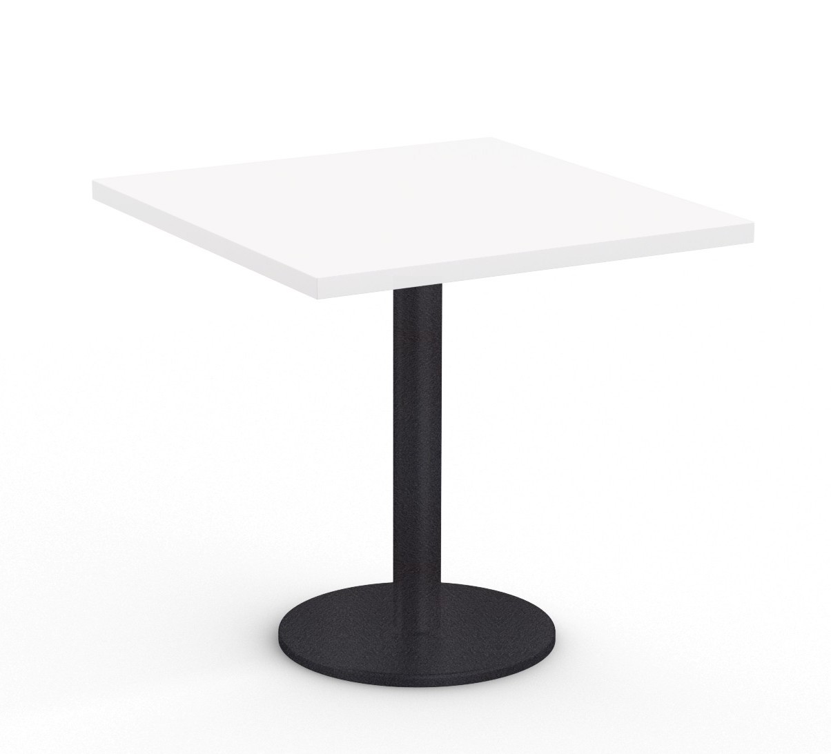 """36"""" square cantina table in white"""