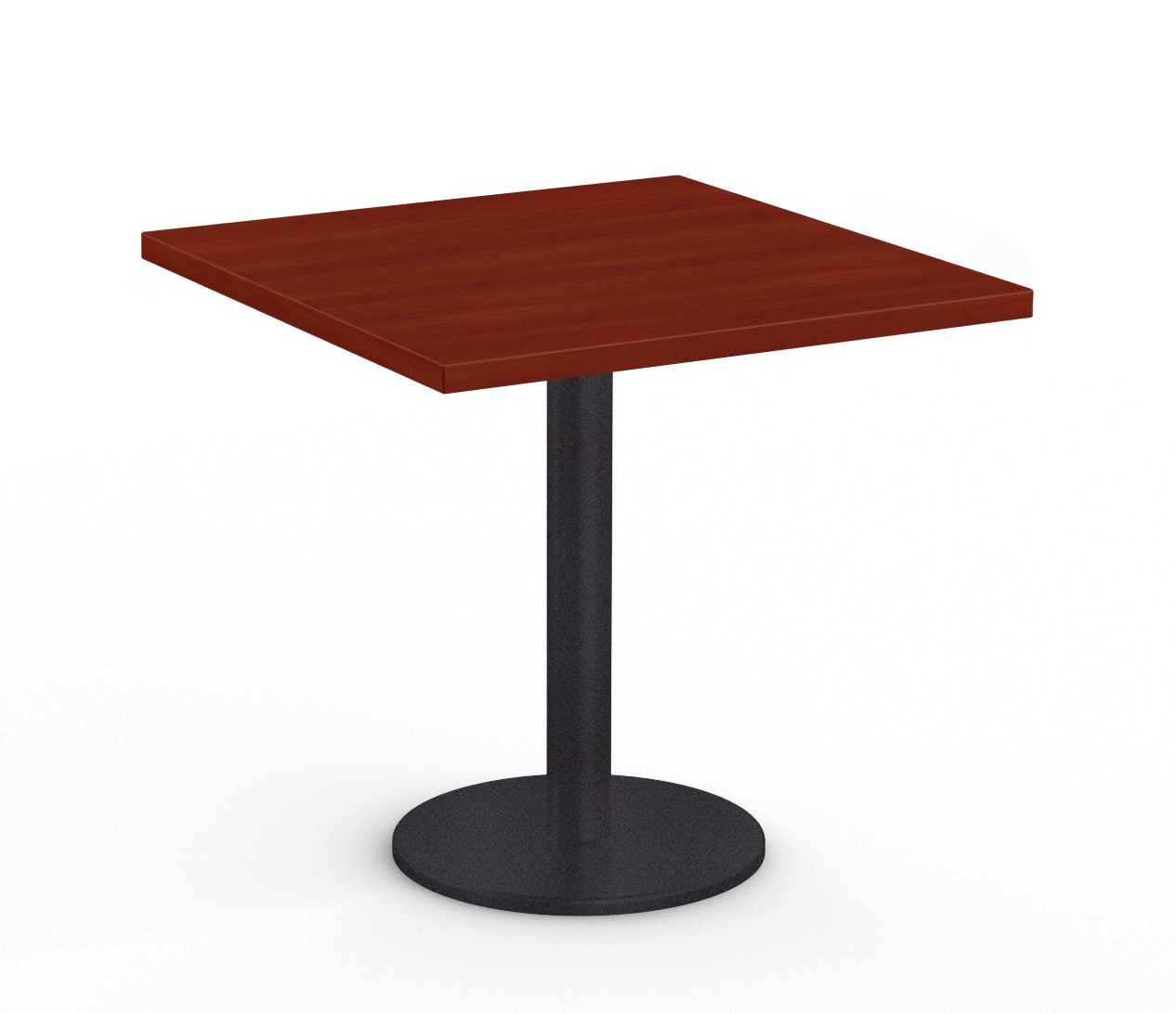 """36"""" square cantina table in cherry"""