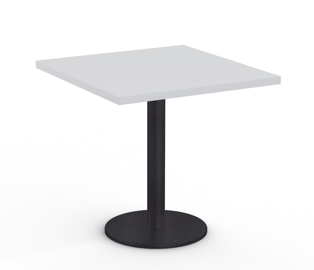 """36"""" square cantina table in light grey"""