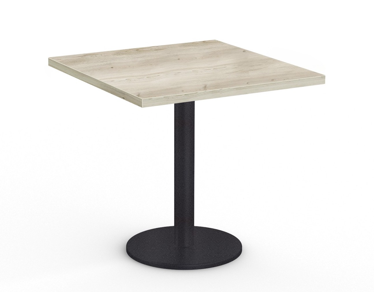 """36"""" square cantina table in aged driftwood"""