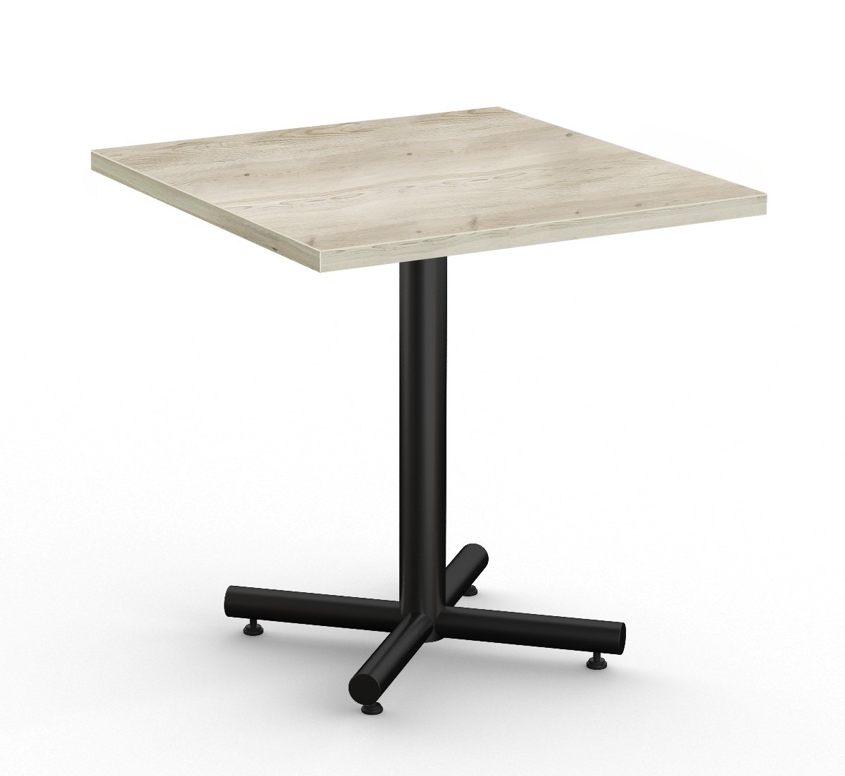 """classix 36"""" square table in aged driftwood"""