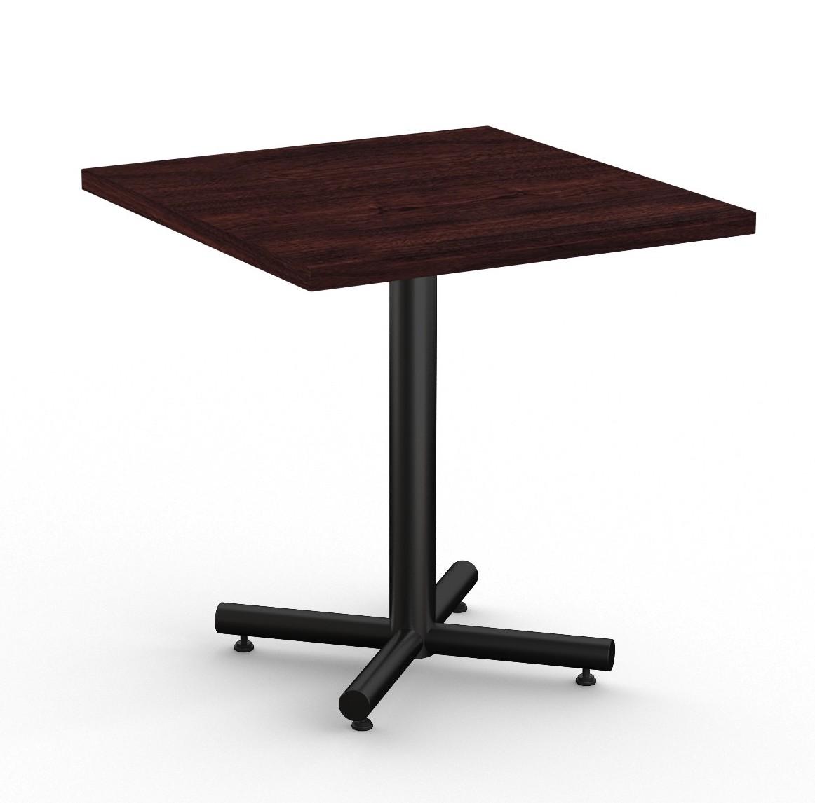 """classix 36"""" square table in espresso"""
