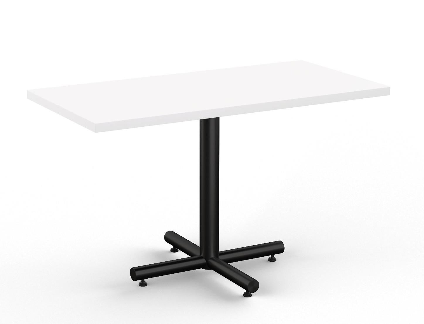 white finished classix rectangular cafe table