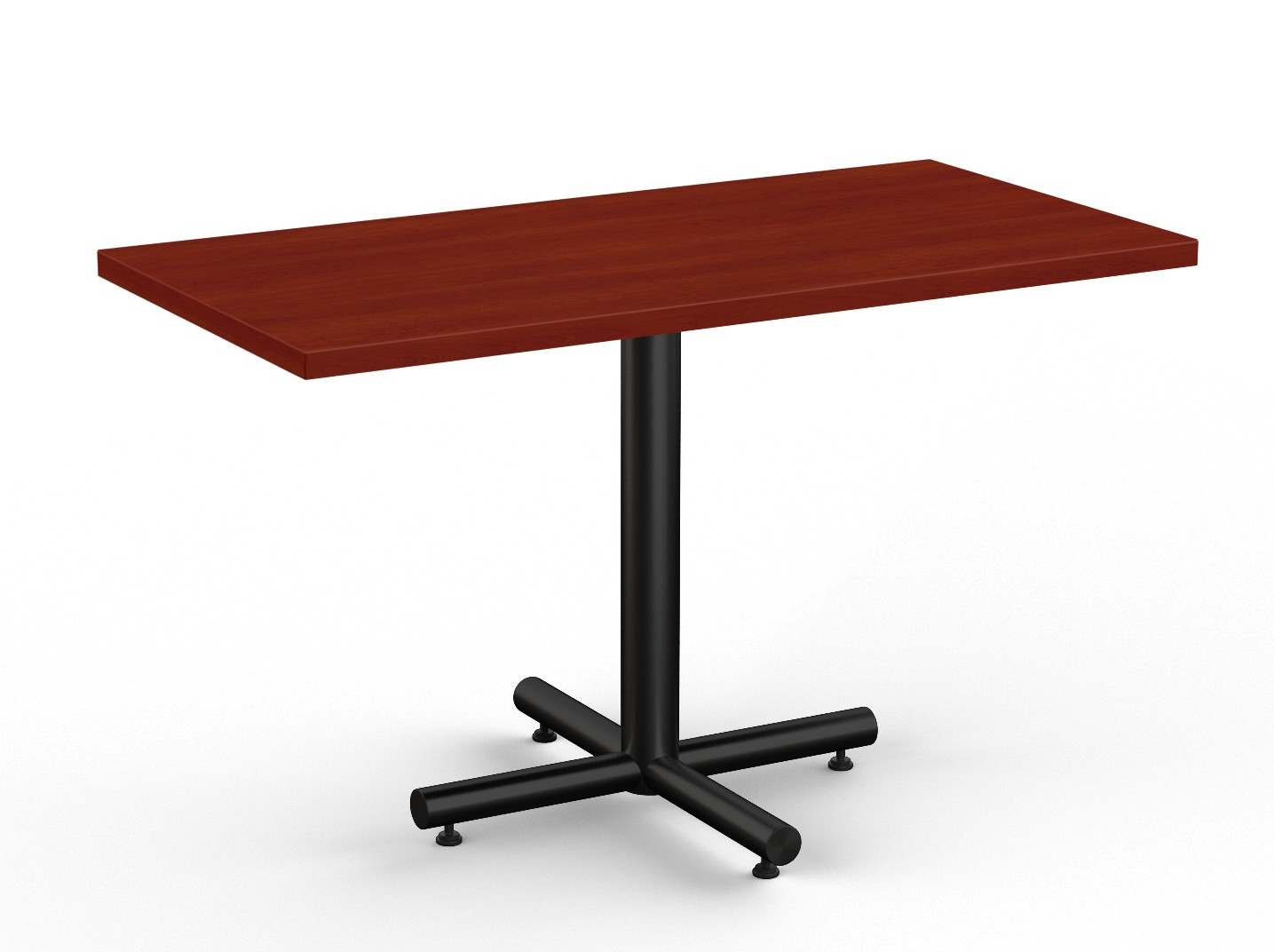 cherry finished classix rectangular cafe table